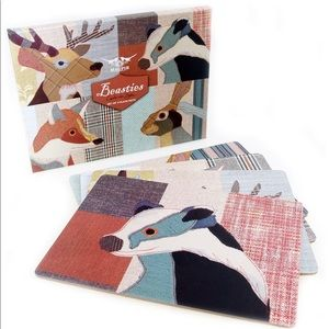 Magpie Beasties XL Placemats - Set of 4